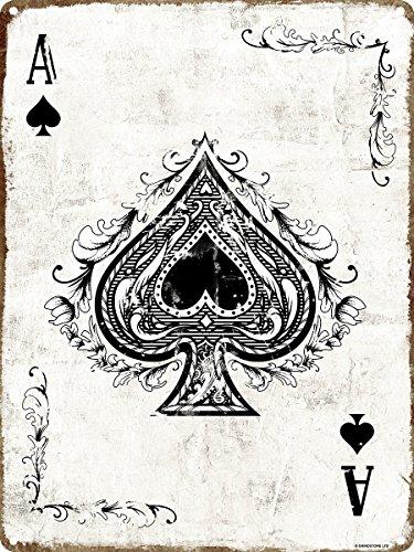 Grindstore targa in metallo, asso di picche -ace of spades
