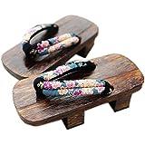 Fancy Pumpkin Sandalias Cosplay japonesas Zueco de madera para mujer Geta Sandalias para Kimono Maiko Cosplay, C-02