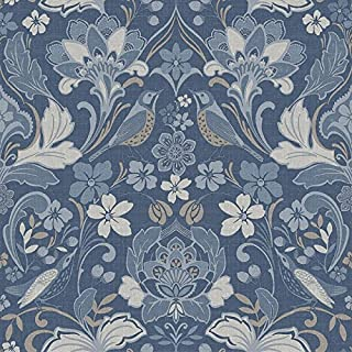 Arthouse 676002 Folk Floral Wall Paper/Coverings, Blue, One Size