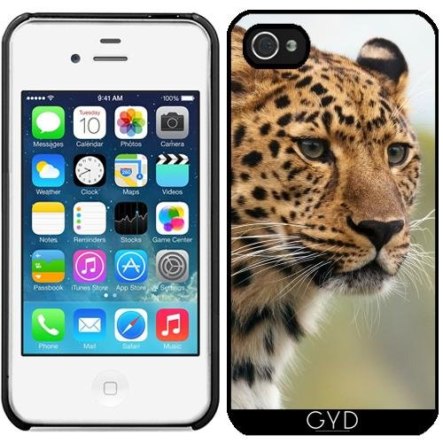 Leder Flip Case Tasche Hülle für Apple iPhone 6 Plus / 6S Plus - Jaguar by WonderfulDreamPicture Starre Kunststoff