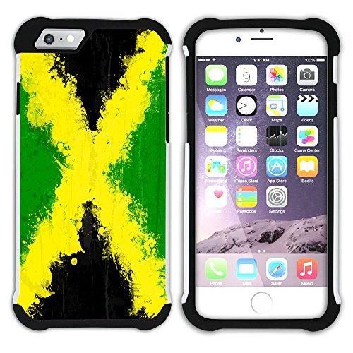 Graphic4You Jamaika Jamaikanisch Flagge Hart + Weiche Kratzfeste Hülle Case Schale Tasche Schutzhülle für Apple iPhone 6 Plus / 6S Plus Design #1