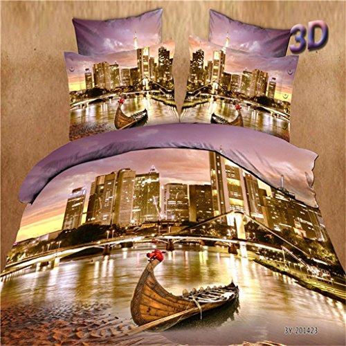 grafica-3d-stereo-quattro-set-biancheria-da-letto-copripiumino-paesaggio-3d-quattro-pezzi-tuta