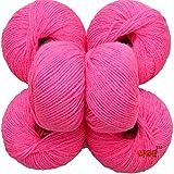 #4: Vardhman Baby Soft Wool, (Melon) ( Pack of 6)