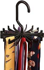 BUCKLE UP Plastic Tie Hanger Organiser (Black)