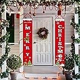 JoyTplay 2Pezzi Banner di Natale, Decorazione di Buon Natale, Segno di Portico Luminoso Interno Coperto per Esterni