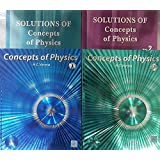 Concepts of Physics Vol I & II with Solutions of both the Volumes - Set of 4 Books