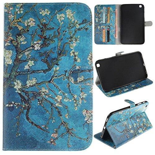 Skytar Tasche Galaxy Tab 3 8.0,Samsung Tab3 8 Zoll Hülle - PU Leder Flip Cover Case Brieftasche Stand Schutzhülle für Samsung Galaxy Tab 3 SM-T310 / T311 / T315 (8 Zoll) Tasche Hülle ,*Aprikosenbaum