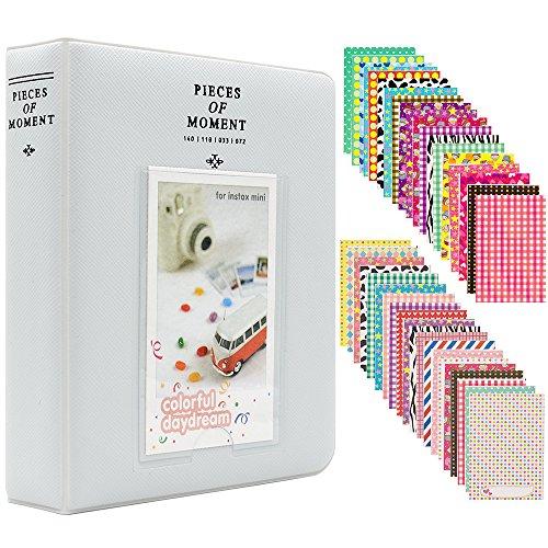 Miniálbum de fotos con 120 fundas, de Ablus, para cámara instantánea Fujifilm Instax Mini 7s 8 8+ 9 25 26 50s 70 90 y tarjeta de visita, plástico, Smokey White, 64 pockets