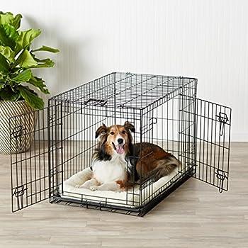 AmazonBasics Cage pliante en métal avec 2portes pour chien TailleL