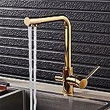 Gyps Faucet Waschtisch-Einhebelmischer Waschtischarmatur BadarmaturKüche Wasserhahn voll Kupfer Kaltes Wasser und den Luxus von reinem Wasser abwaschen in eine Badewanne mit Zwei schwenkbaren Misch