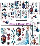alles-meine.de GmbH 85 tlg. XL Set: Haut Tattoo - Glitzer & Glimmer -  Disney die Eiskönigin - Fr..