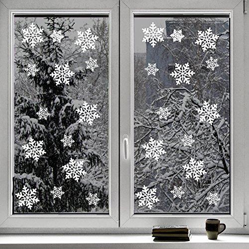 100 pi ce de fen tre de flocon de neige ensemble d for Decoration d une fenetre