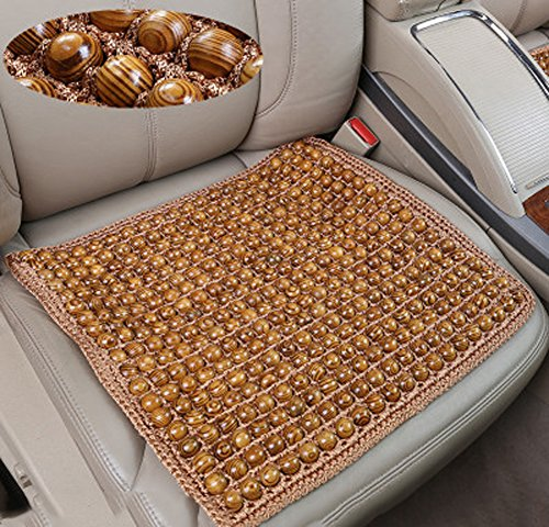 DADAO Autositzkissen,Sommer-Feste Holz büro Kissen Atmungsaktive massagematte-E 45x45cm(18x18inch)