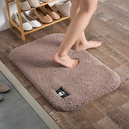 MJK Fußmatten, Microfaser Wohnzimmer Schlafzimmer Teppiche, Badezimmer WC Saugfähige Anti-Rutsch-Matte, Indoor-Veranda Fußmatten können maschinenwaschbar sein, mehrere Größen/mehrere Farben,Blau,50