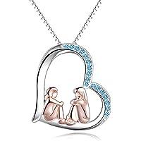 Collana in argento Sterling placcato oro rosa Big Sis Lit Sis, regalo per sorelle, compagne di classe, ragazze