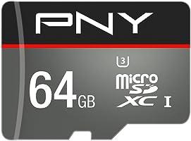 [Nuova versione]PNY Scheda di memoria MicroSDXC Turbo 64 GB 100MB/s Classe 10 UHS-1 U3 con adattore