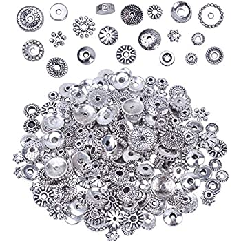 2mm Hole PandaHall Elite 300 Pcs 6 Colors Brass Flat Round Barrel Plating Spacer Bead for DIY Jewelry Making Findings 6x2mm