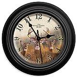 "Reflective Art 10in Wall Clock - Buck Stops Here 10"""