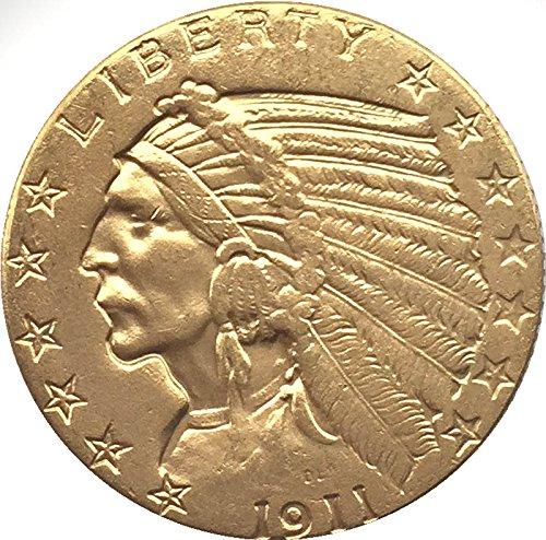 1911 USA - 5 Dollar - Indianerkopf - Indian Head - Half Eagle - Replica (Indian Head Eagle)