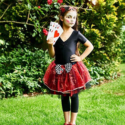 Amscan Kleid bis queenh-sm Königin der Herzen Tutu Kleid bis, Mädchen, nicht massiv Farbe, ()
