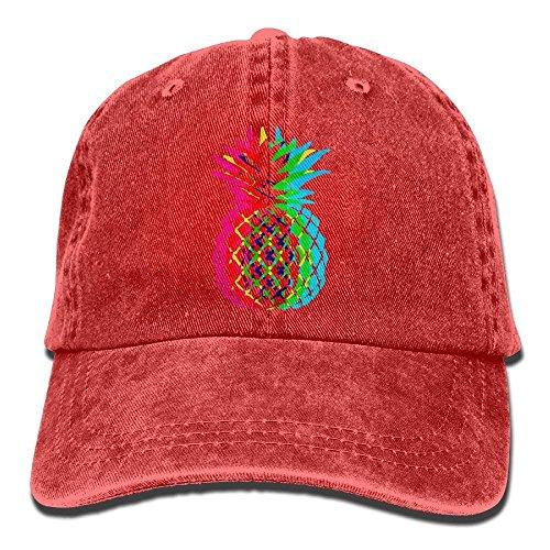 2018 Adult Fashion Cotton Denim Baseball Cap Bright Pineapple Classic Dad Hat Adjustable Plain Cap