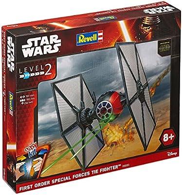 Revell 06693 Modellbausatz Star Wars Special Forces TIE Fighter im Maßstab 1:35, Level 2, originalgetreue Nachbildung mit vielen Details, Steckmechanismus, mit vorbemalten und vordekorierten Teilen von Revell easykit