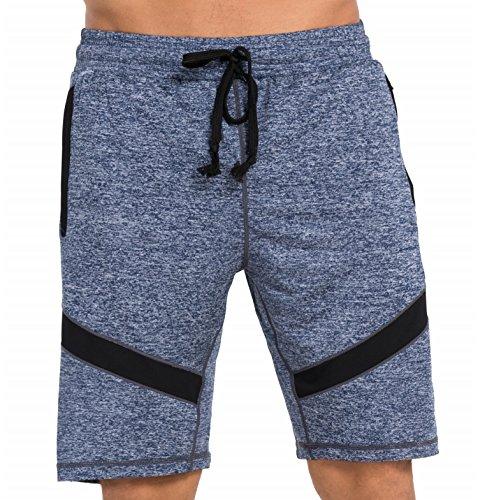 Vansydical Sport Fitness Basket Running Outdoor Casual moda uomo Shorts (Blu, XL)