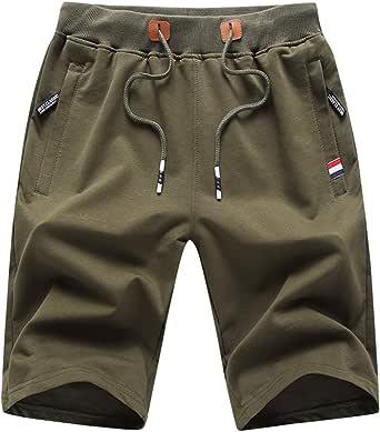 Tansozer Mens Gym Shorts Summer Sports Shorts Zip Pockets