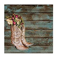 CafePress Modern Cowboy Boots Barn Wood Tile Coaster, Drink Coaster, Small Trivet