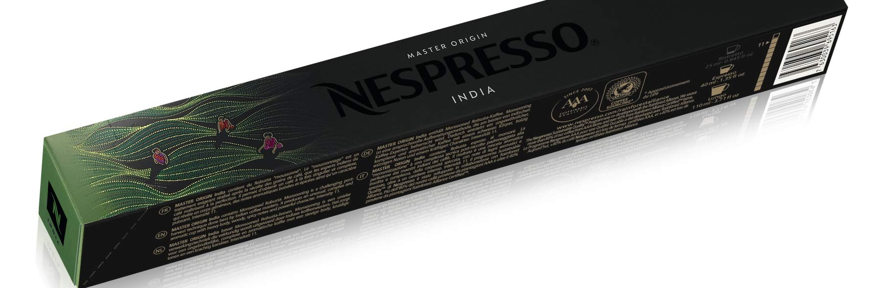 Nespresso Original Master Origin coffee pods and capsules (a intense, spicy notes, woody notes coffee with aromas of spices and tobacco)