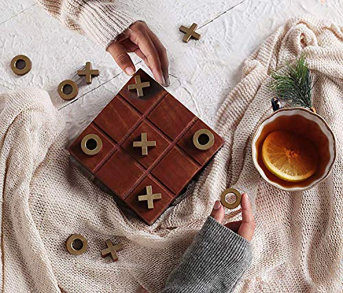 Montag Holz Tic Tac Toe Brettspiele Noughts and Crosses Familie Brain Teaser Couchtisch Spiele Weihnachtsgeschenkbox ()