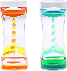 MagiDeal 2Pieces Mix Color Liquid Timer Kids Sensory Educational Time out Tool