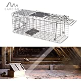Gardigo Jaula trampa para ratas, comadrejas, gatos, perros, zorros atrapar al animal vivo y puede ser suspendido