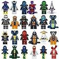 24 pcs todwish ninjago mini figures lloyd pythor villians Kai zane cole nya