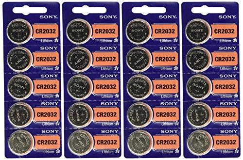 Preisvergleich Produktbild Sony CR2032 Lithium Coin Cell 3V 20 Pcs by Sony