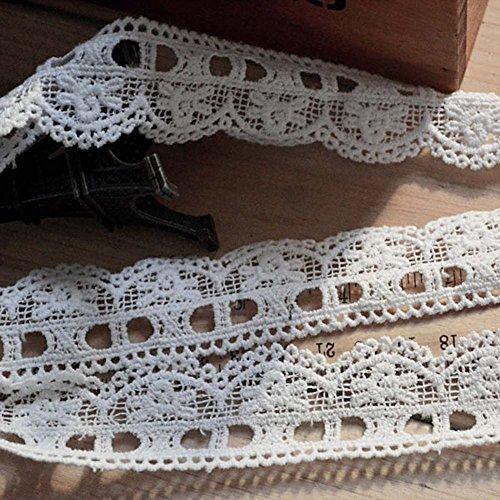 Weiß 5Meter Baumwolle Spitze Öse ausgehöhlten Spitzenband Kostüme Supplies Craft DIY 11/20,3cm Breite