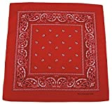 Bandana Tuch rot Biker Kopftuch 100% Baumwolle rotes Halstuch