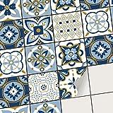 creatisto Film Amovible décoratif Carreaux - Stickers carrelage I Accessoire de décoration - Rangement Salle d'eau I Stickers carrelage (20x20 cm I 9 - Pièces)