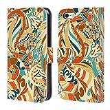 Head Case Designs Ufficiale Julia Badeeva Decorazioni Modelli Assortiti 2 Cover a Portafoglio in Pelle per iPhone 5c