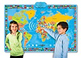 interaktive Lern Landkarte Globus mit Sound und Quiz uvm 90 x 60 cm