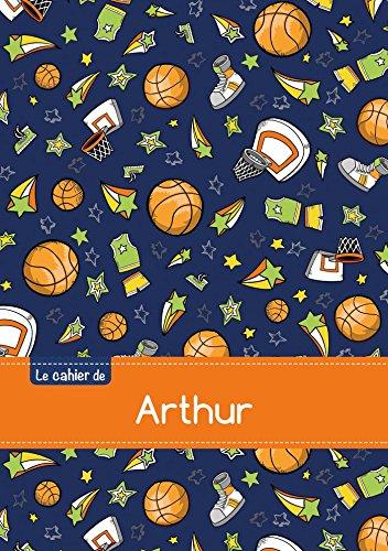 Le cahier d'Arthur - Blanc, 96p, A5 - Basketball