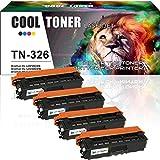 Cool Toner 4 Pack Kompatibel für Brother TN-326 TN 326 TN326 Toner für Brother HL-L8250CDN HL L8250CDN L8350CDW 8250CDN MFC-L8650CDW MFC-L8850CDW MFCL8650CDW MFC L8650CDW MFC 8650 CDW Brother 8650 Toner DCP-L8450CDW L8450CDW DCP-L8400CDN DCP L8400CDN HL-L8250CDN Farblaser Drucker