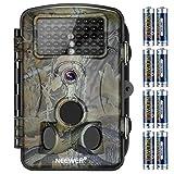 Neewer 1080P 12MP IR HD Cámara Pantalla LCD, 42 IR LEDS, Visión Nocturna de Gran Angular de 120-grado, Impermeable A prueba de Polvo para Vigilancia de Escultismo Cazador con Pilas AA Alcalina LR6