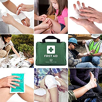 103 Pieces Harley Street Care Professional First Aid/Emergency Kit. Comprehensive, Compact & Durable for Health & Safety, Includes Eye Wash, Cold Packs, Emergency Blanket for Home, Car, Work, Travel 8