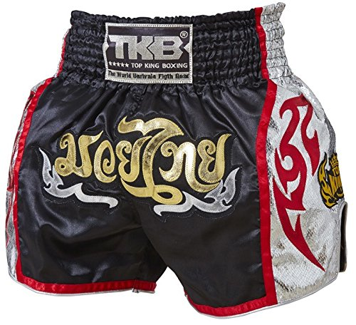 Top King TK-TBS-91 - Pantalones cortos para Muay Thai [tktbs-122], color negro, tamaño small