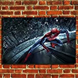 Box Prints Impression Art sur toile Impression petite grande image Spiderman Grande 80 x 50 cm (32'x 20')