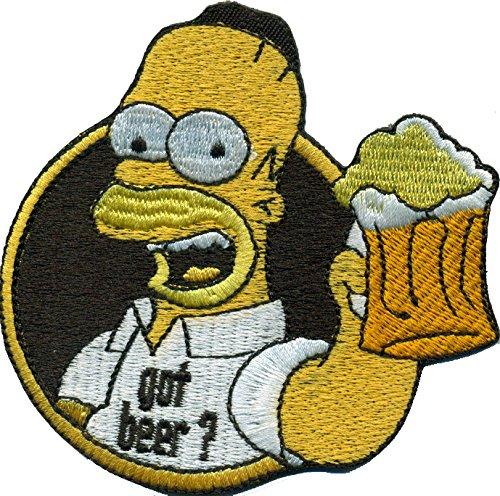 Simpsons Homer Simpson Got Beer Oktoberfest Saufen Bier Biker Aufnäher Patch (Bier Homer)