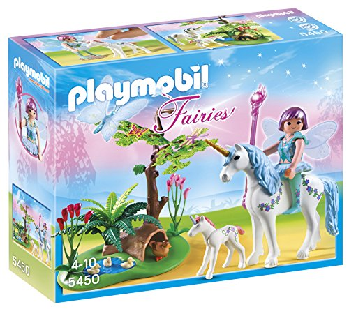 PLAYMOBIL Hadas - Hada Aquarella Pradera Unicornio