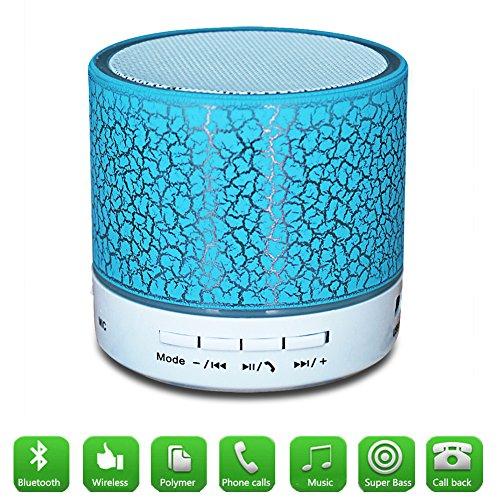 Mini Bluetooth Lautsprecher, YANX Tragbar Kabellos Redner Crack Sound Box Subwoofer mit Mic (Blau)