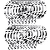 Shappy confezione da 20anelli in metallo tenda anelli per tende e aste, argento 30mm diametro interno